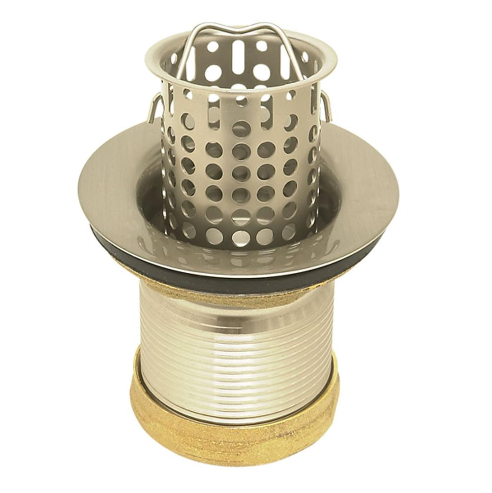 Mountain Plumbing Mt710 Brn 2 1 Br Bar Strainer W Lift Out Basket Brushed Nickel